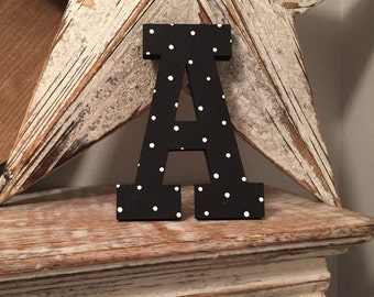 Hand-painted Wooden Letter A, Wall Letter, 9mm thick - Rockwell Font - Various sizes, finishes and colours