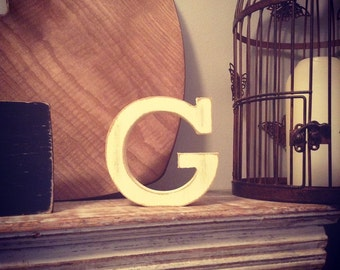 Hand-painted Wooden Letter, G - Freestanding - Rockwell Font - Various sizes, finishes and colours - 30cm