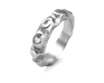 Mens wedding band, chunky ring, man wedding band, man ring, male wedding band, male ring, man promise ring, male promise ring, silver band