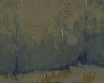 Lunar Light — Original Oil Painting, Landscape Oil Painting, Abstract Landscape, Original Painting, Abstract Painting, Fine Art, 5 x 7