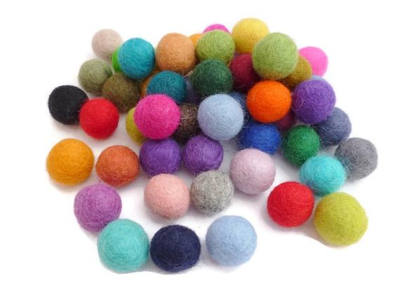 Handmade wool felt balls 25mm pom pom bead arts and crafts for Felt arts and crafts