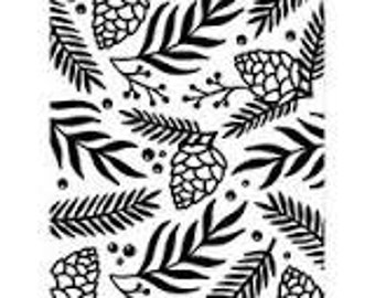 GREENS SPRIG BERRIES Embossing Folder by Darice Size A2