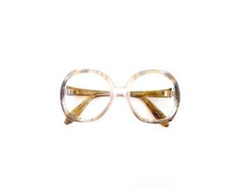 Brown Glasses Frames. Vintage RARE 80s Lozza Large Oversized Eyeglasses. Made in Italy