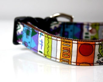 Colorful Geometric Dog Collar