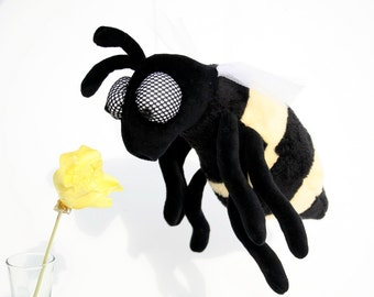 Honey Bee - Plush Toy, Soft Plush Bug, Cuddly Insect