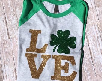 Women's St Patricks Day shirt  St Patricks Day Womens St Patricks Day shirt Love St Patricks Day Shamrock Shirt Women's St Patricks Shirt