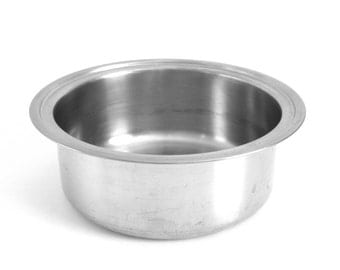 "Stainless Double Boiler Insert for Vintage Pots Pans / Cookware, Fits 7 5/8"" to 7 3/4"" Lid"