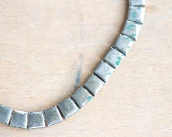 Chunky Flat Chain Necklace with Patina - Modern Cleopatra