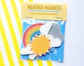 NEW weather themed magnets set