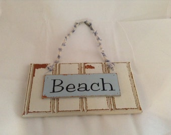 Beach Sign Shabby Chic Look Beachhouse Sign