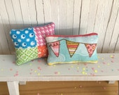 Miniature Shabby Chic Throw Pillow Set