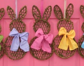 Spring Wreath Mini  -  Bunny Wreath Mini - Easter Decoration - Quick Ship-