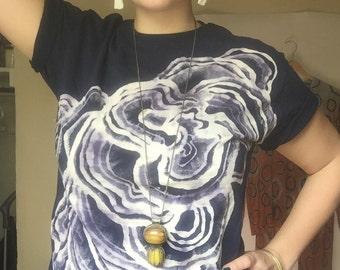 Made to Order Handdyed Lichen Tee in Navy, Grey or Black