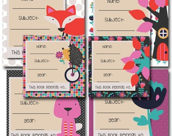 Hi Dee Ho! Printable School Book Labels