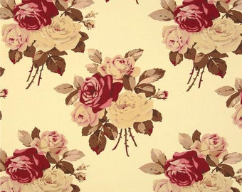 90441 Tanya Whelan Petal collection Large Antique Roses in Ivory color Home Dec fabric SATW055- 1 yard