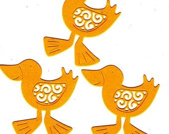 Delightful Yellow Duck Embellishments