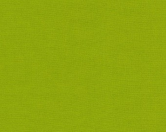 LAMINATED cotton fabric by the yard (similar to oilcloth) - Solid lime green - WIDE - BPA free - Approved for children's products