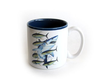 Guy Harvey Wildlife Collection Sharks Mug Fine Arts Creation 3018 Marine Sportfish