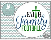 Faith Family and Football Football SVG LL071 D - Svg - ai, eps, svg, dxf (for Silhouette users), jpg, png