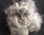 Angora fibre gray, yellow, white for spinning felting