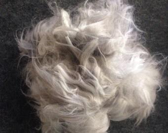 Angora fibre gray, yellow, white for spinning felting