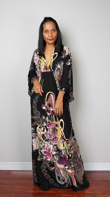 Boho Dress Bohemian Maxi Dress Long Wide Sleeve Maxi Dress