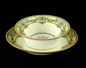 "Antique Mintons Bone China ""Stratford"" Ramekins and Saucers - Set of 10"