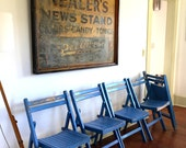 Vintage classic wooden folding chair