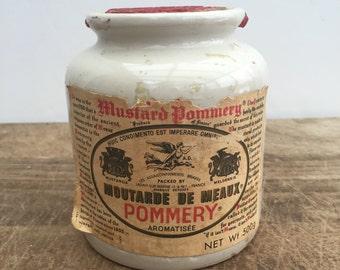 Vintage crock pot with label and original cork