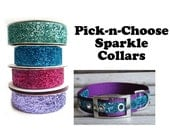 Metal Buckle Sparkle Collar, Pick and Choose your colors