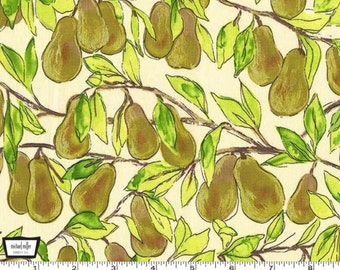 Valencia - Pear Branch Cream with Metallic Accents by Laura Gunn from Michael Miller