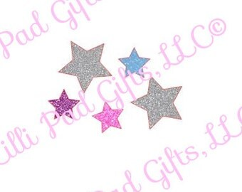 Group of Stars - Cut File - Instant Download - SVG Vector JPG for Cameo Silhouette Studio Software & other Cutter Machines
