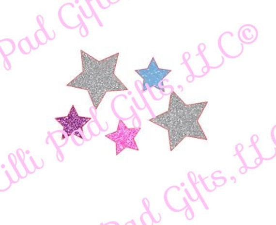 Group Of Stars Cut File Instant Download Svg And Dxf For