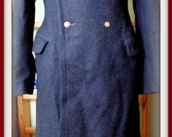 soviet surplus gray overcoat men Used USSR Russian Military Steampunk Coat Uniform Wool Miliceman Officer 50-5 L