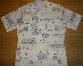 Mens Vintage 70s USMC Marines Hawaii Hawaiian Aloha Shirt - XL -  The Hana Shirt Co