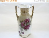 On Sale Antique Rose Porcelain , Bud Vase
