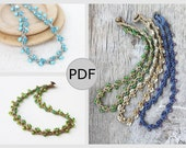 Crochet necklace pattern DIY tutorial Last minute gift idea Gift for daughter, for mom, for sister How to crochet with beads