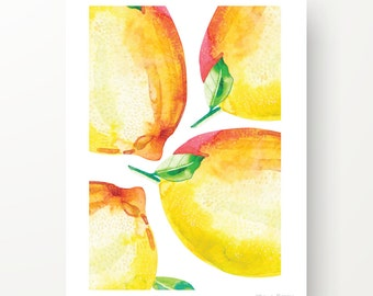 LEMON FOOD ART - Lemons print