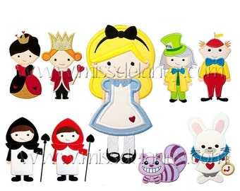 On Sale Alice in Wonderland Applique Designs
