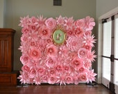 Paper Flowers Backdrop 8x8ft for RENT. Wedding Flower, Wedding Bouquet, photo prop, wall flowers,
