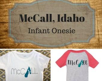 McCall Idaho infant tee shirt/McCall apparel/Lake Tee/Idaho apparel/payette lake/idaho lake tee/baby lake tee/custom tee/lake life
