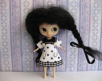 Sailor Inspired Dress (B& W stars)