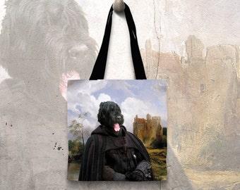 Dog Tote Bag - Black Russian Terrier Tote Bag - Black Russian Terrier Art -  Black Russian Terrier Gifts -  Black Russian Terrier