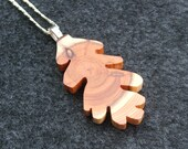Rustic oak Leaf Pendant - Wooden Hand Cut Leaf Pendant necklace.