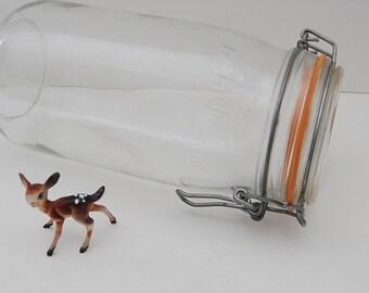 Vintage Canning Jar, Le Parfait Jar, French Jar,  Large Kitchen Storage Jar, Made in France