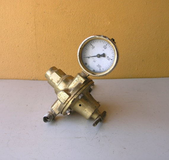Steampunk dial brass pressure gauge regulator gauge - Steampunk pressure gauge ...