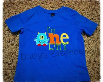 Monster 1st birthday shirt