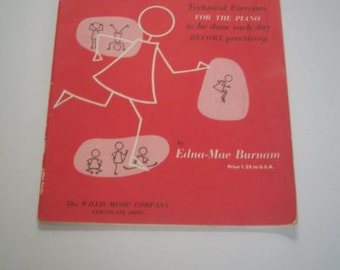Vintage Book Three Music Book for the Piano A Dozen