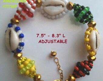 Santeria. Yoruba  Eleke, necklace or  bracelet Idde for 7 african powers. Collar eleke o pulsera ilde para las 7 POTENCIAS Africanas