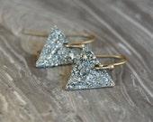 Crushed Crystal Druzy Dangle Earrings